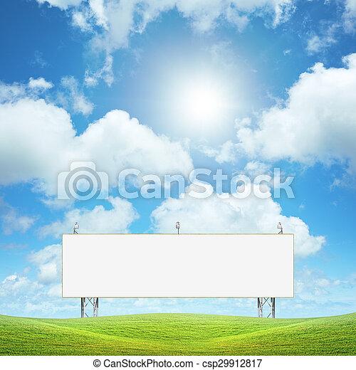 Un cartel en blanco - csp29912817