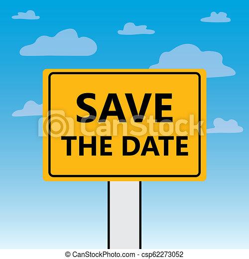 Guarda la fecha escrita en un cartel - csp62273052