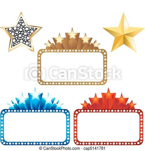Billboards en blanco con estrellas - csp5141781