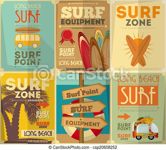Coleccion de carteles de surf - csp20608252