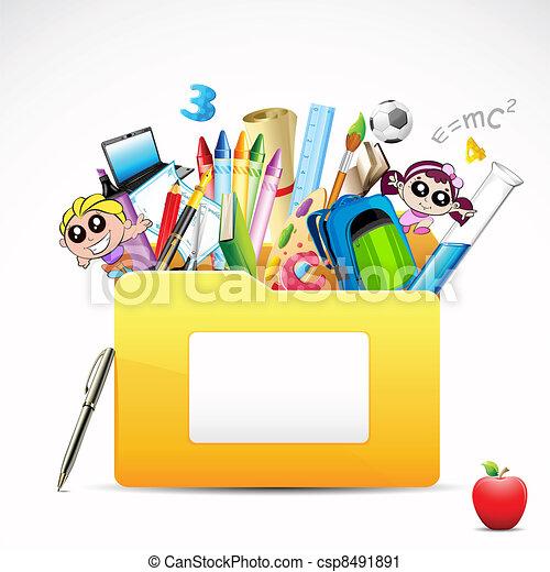 cartella, educazione - csp8491891