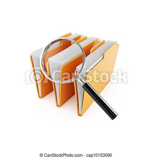 cartella, ricerca - csp10153090