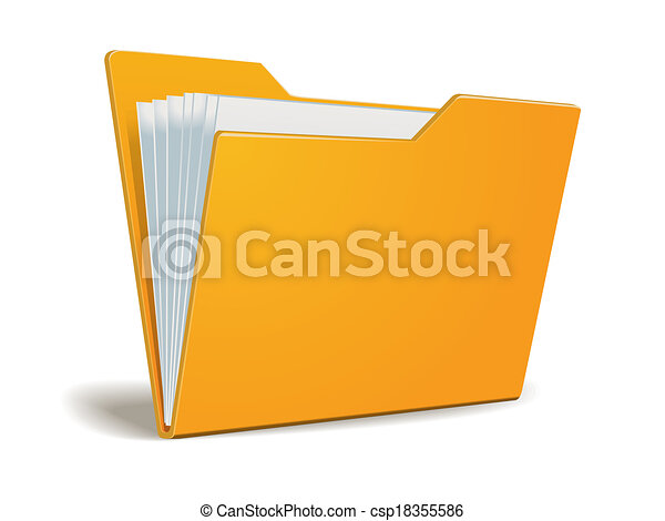 cartella, vettore, documenti - csp18355586