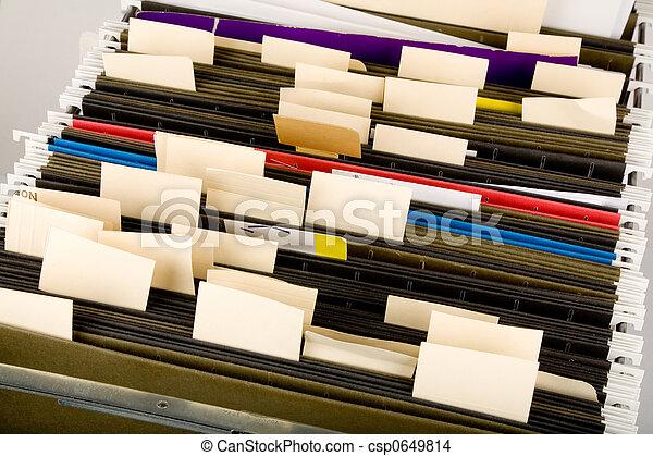 cartelle, appendere, etichetta - csp0649814