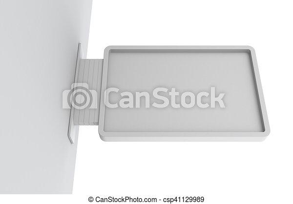 cartello, isolato, wall. - csp41129989