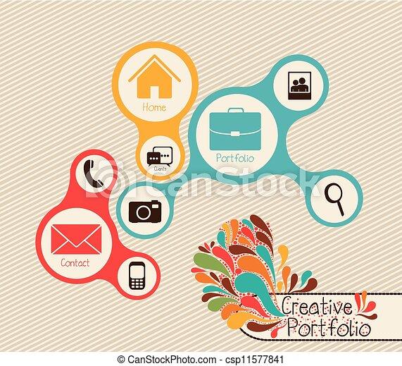 cartera, creativo - csp11577841