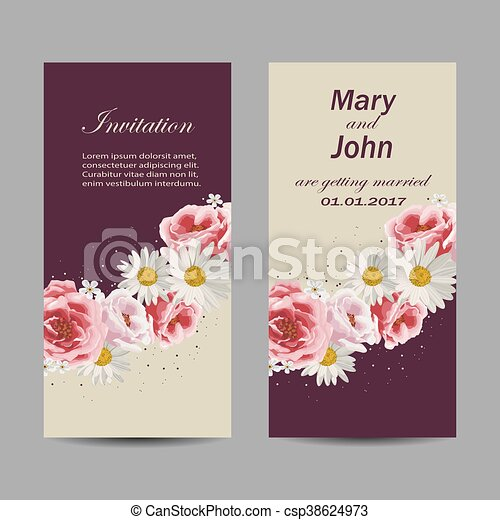 Cartes Design Ensemble Invitation Mariage