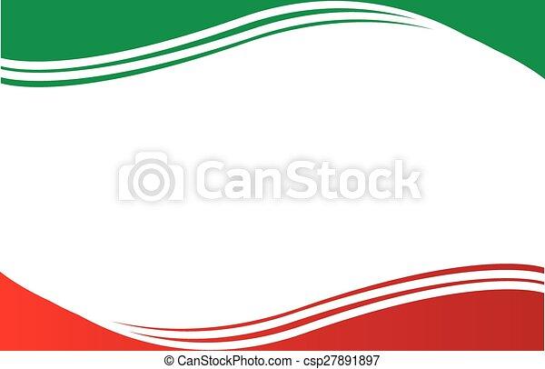 cartolina, bordo, bandiera, messicano - csp27891897