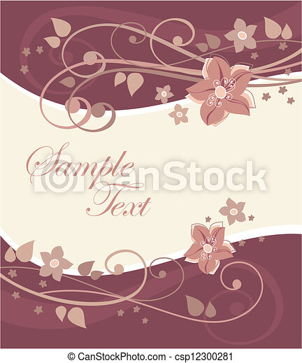 cartolina, fiori - csp12300281