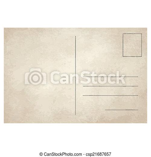 cartolina, vendemmia, vecchio - csp21687657