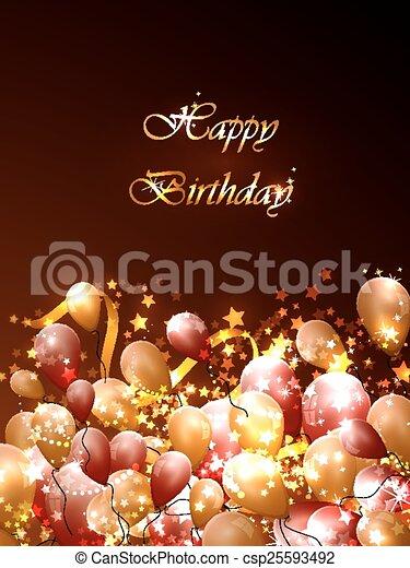 cartoline, compleanno - csp25593492