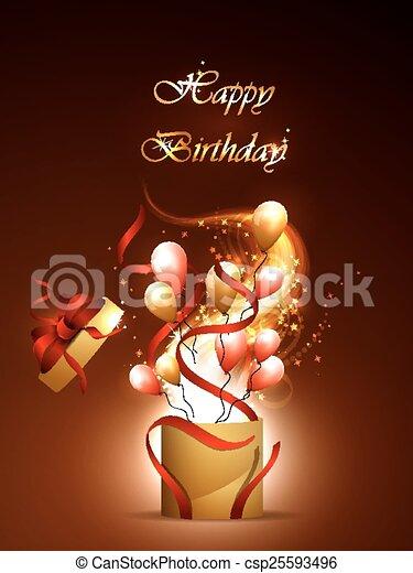 cartoline, compleanno - csp25593496
