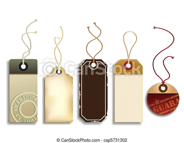 carton, étiquettes, ventes - csp5731302