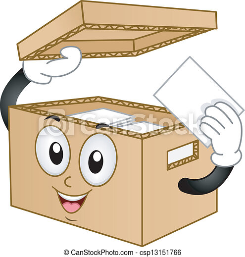 Carton Box Mascot  - csp13151766