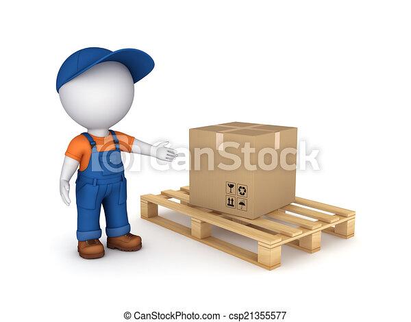 Carton box. - csp21355577