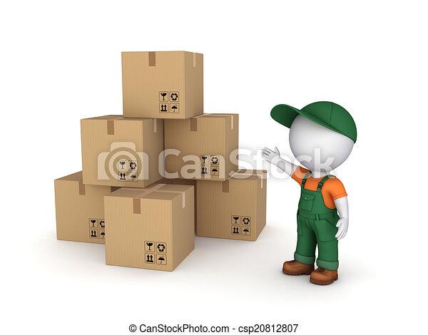 Carton boxes. - csp20812807