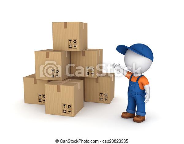 Carton boxes. - csp20823335