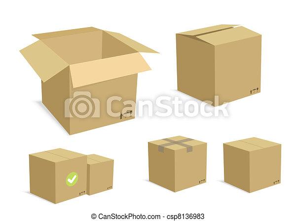 Carton Boxes Set - csp8136983