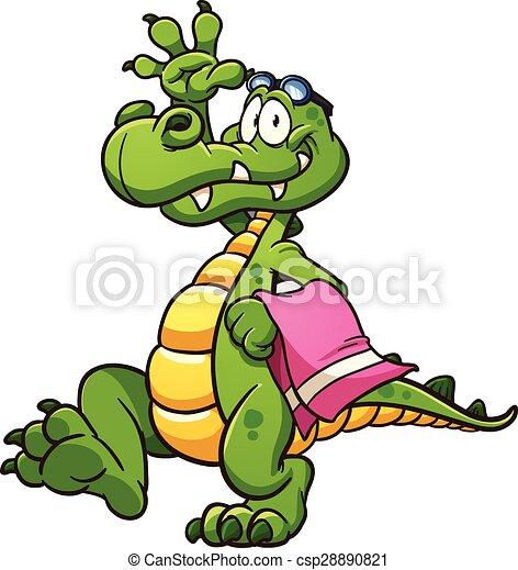 Carton crocodile - csp28890821
