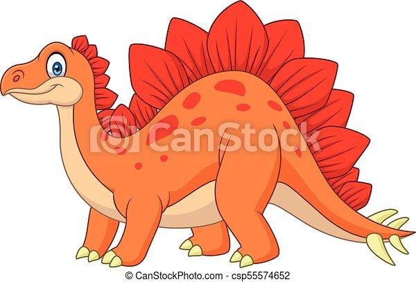 Carton happy stegosaurus - csp55574652