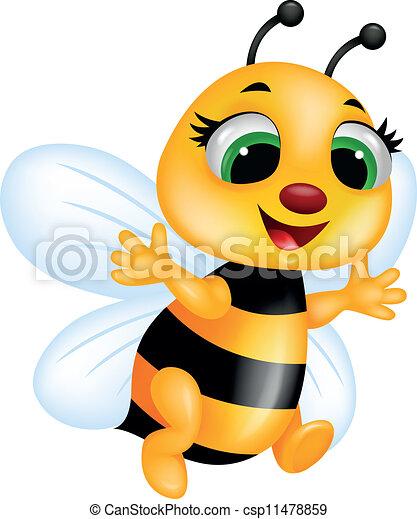 Cartone animato ape vettore cartone animato - Cartone animato immagini immagini fantasma immagini ...