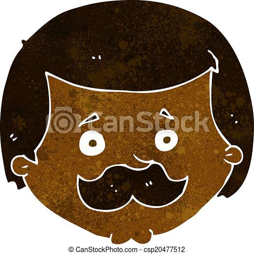 Cartone animato baffi uomo
