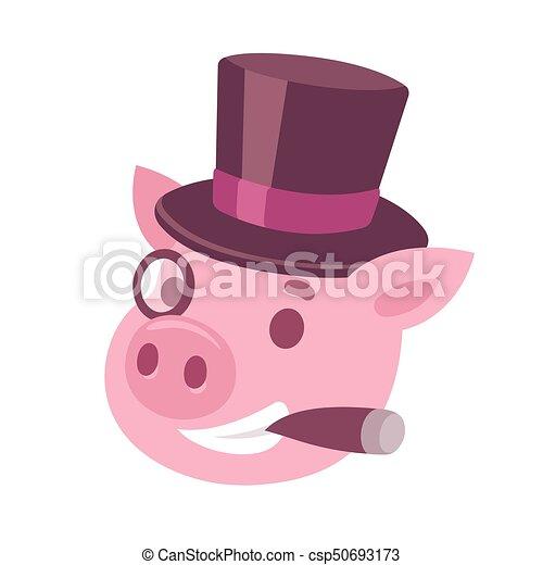 Maiale anno animale maiale simpatico cartone animato immagine