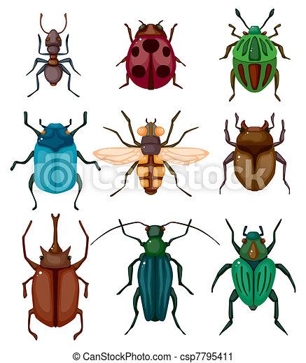 cartone animato, insetto, icona, insetto - csp7795411