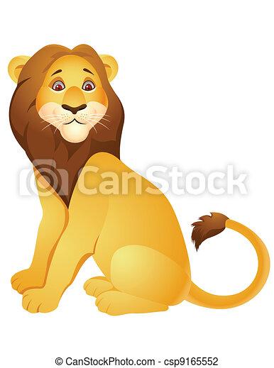 cartone animato, leone - csp9165552