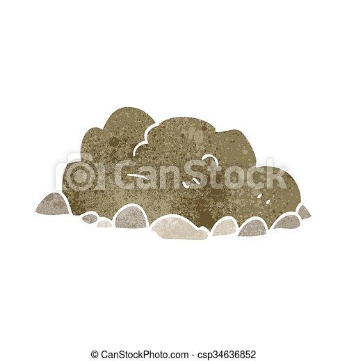 cartone animato, mucchio, retro, sporcizia - csp34636852