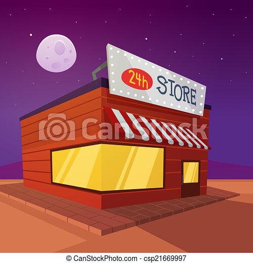 cartone animato, negozio - csp21669997