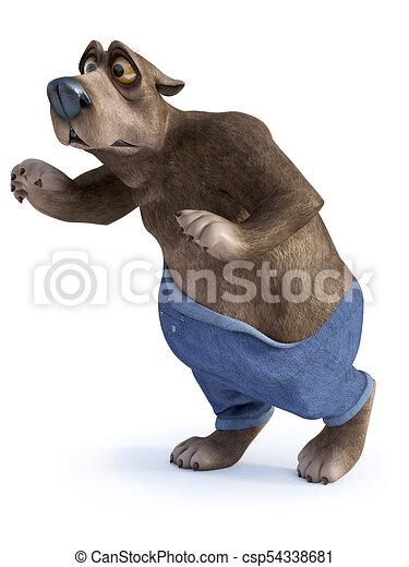 Cartone animato orso sneaking come prendere preso red handed