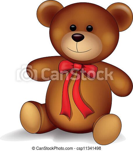 Cartone animato orso teddy cartone animato vettore