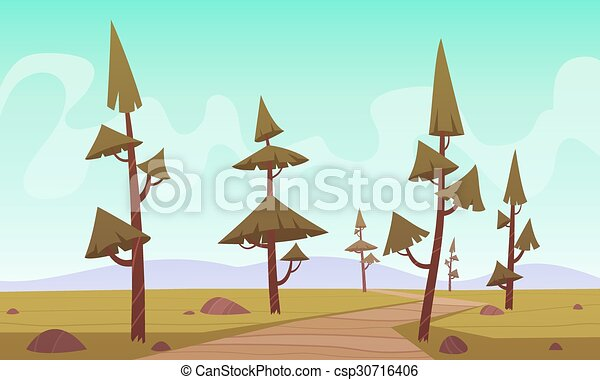 cartone animato, paesaggio - csp30716406