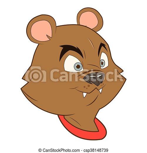 Cartone animato scoiattolo icona. appartamento scoiattolo