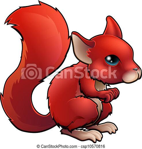 Cartone animato scoiattolo rosso. carino scoiattolo illustrazione