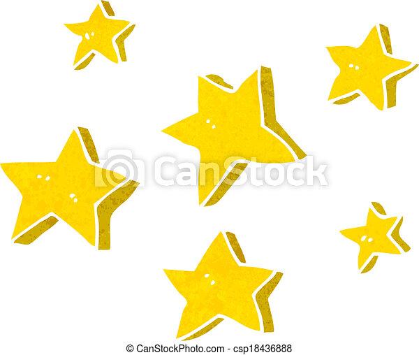 cartone animato, stelle - csp18436888