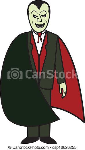 Cartone animato vampiro raffigurazione transylvania vampiro