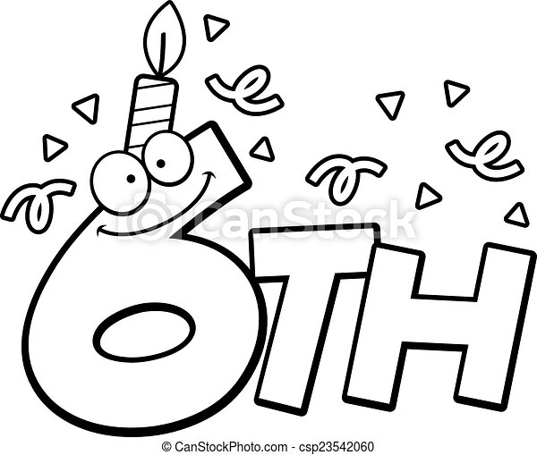 6th Birthday Clipart And Stock Illustrations 151 6th Birthday