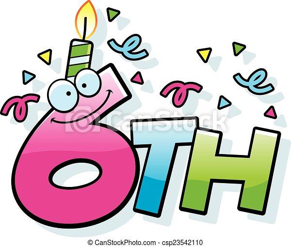 cartoon 6th birthday a cartoon illustration of the text 6th rh canstockphoto com birthday vector icon free birthday vector icon free