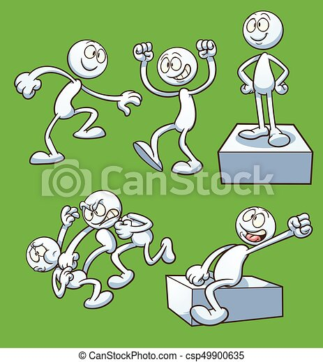 Cartoon actions - csp49900635