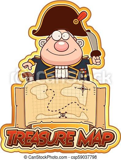 Cartoon Treasure Map on