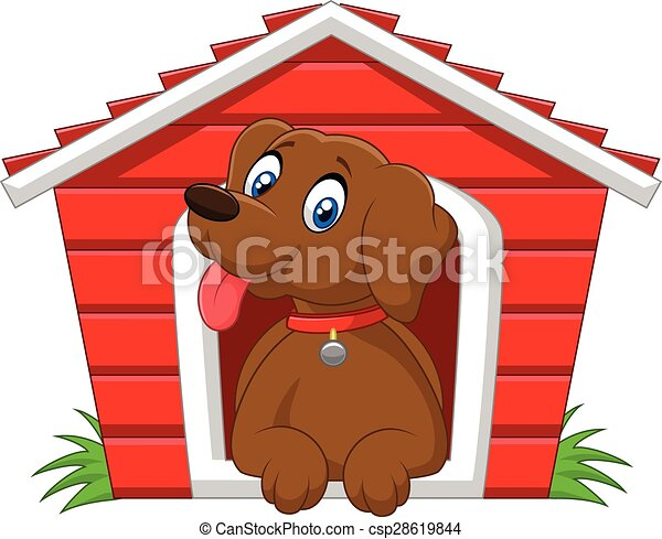 Vector Illustration Of Cartoon Adorable Dog In The Cage Canstock