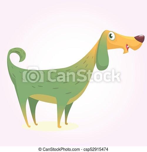 Cartoon afghan hound. Vector illustration of happy dog - csp52915474