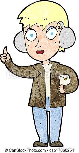 cartoon air force woman - csp17860254