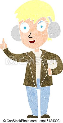 cartoon air force woman - csp18424303