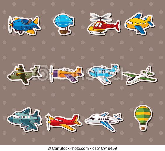 cartoon airplane stickers - csp10919459