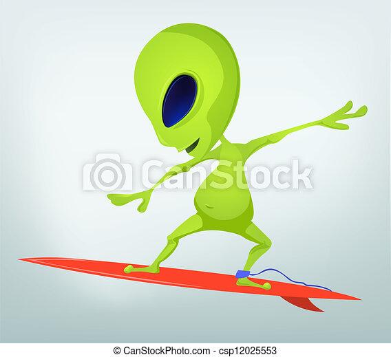 Cartoon Alien - csp12025553