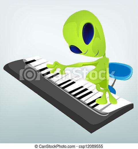 Cartoon Alien - csp12089555