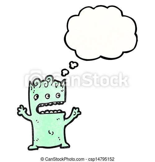 cartoon alien - csp14795152